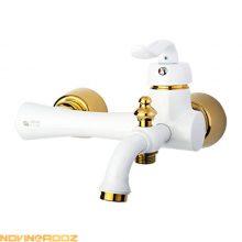 شیر حمام رابو مدل اپال سفید طلایی