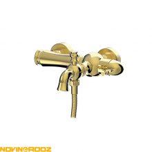 شیر حمام فیروزه مدل تینا طلایی