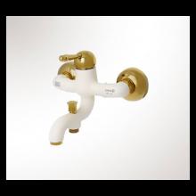 شیر حمام کابوک مدل رویال سفید طلایی