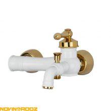 شیر حمام کی اند دی مدل آلفا سفید طلایی