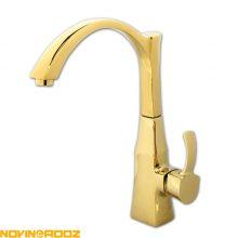 شیر ظرفشویی کسری مدل فلورا طلایی