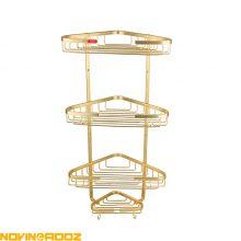 قفسه کنج وستا سه طبقه طلایی