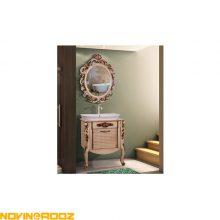 کابینت روشویی برسام مدل لیونا 65 سلطنتی قهوه ای