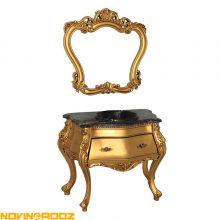 کابینت روشویی یونیک کابین مدل سلطنتی طلایی